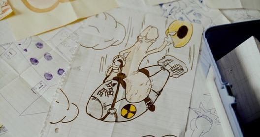 Superbad Dr. Strangelove Penis Drawing