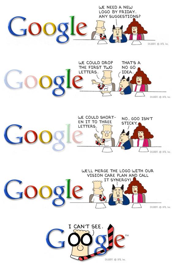 Google Doodle para o Dilbert