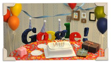 Google Doodle de aniversário de 13 anos