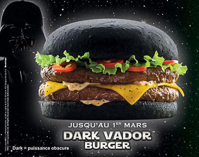 Hamburger Dark Vador da Quick
