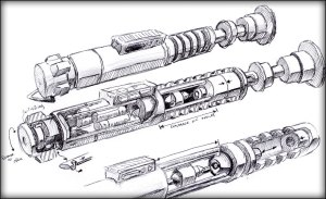 Luke ROTJ lightsaber project by Brad Lewis
