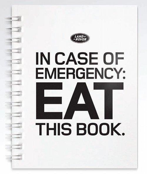 Land Rover Edible Book
