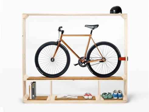 Estante para seus livros, bibelots... e uma bike!