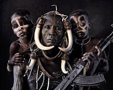 Tribo Mursi, da Etiópia