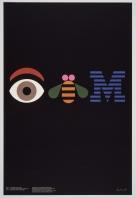 """""""Eye Bee M"""", poster criado por Paul Rand em 1981 para IBM"""