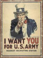 Cartaz criado por James Montgomery Flagg em 1917, que influenciou várias gerações.