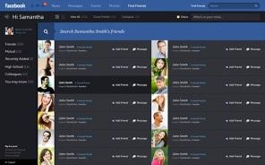 Find friends, ferramenta Ajax para mostrar resultados instantâneos conforme você procura pessoas no Facebook